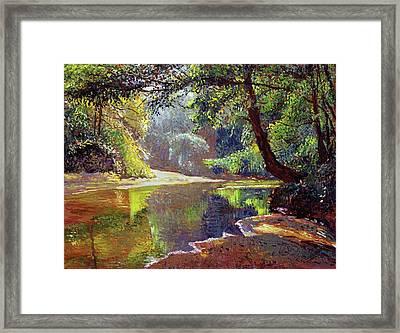 Silent River Framed Print by David Lloyd Glover