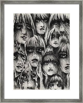 Silent Screams Framed Print by Rachel Christine Nowicki