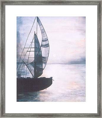 Silent Sea Framed Print by Rajesh Chopra