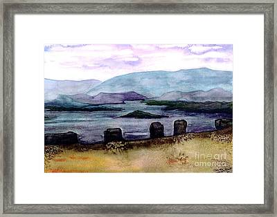 Framed Print featuring the painting Silent Sentinels by Patricia Griffin Brett