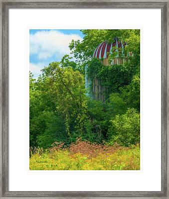 Silent Silo On Nottleson Road Framed Print by Trey Foerster