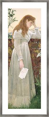 Silent Sorrow Framed Print by Walter Langley