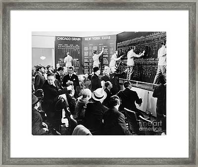 Silent Still: Banking Framed Print