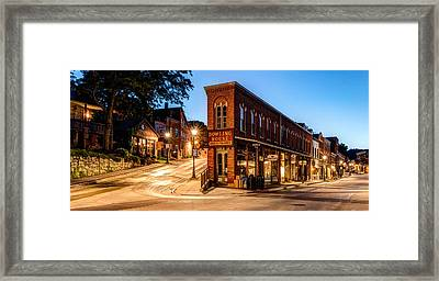 Silent Streets Of Galena Framed Print