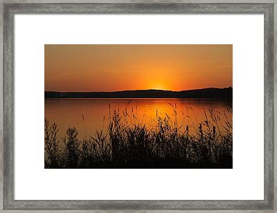Silent Sunset Framed Print by Penny Meyers