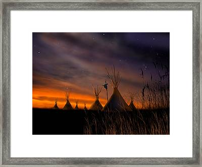 Silent Teepees Framed Print by Paul Sachtleben