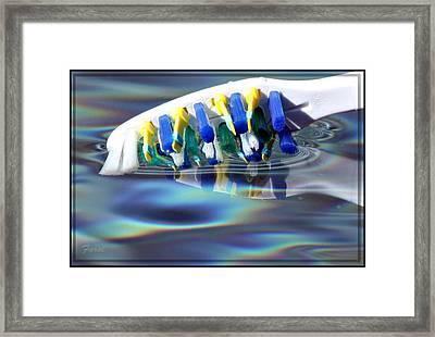 Silent Toothbrush Framed Print