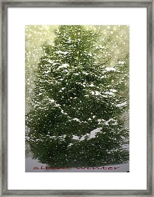 Silent Winter Framed Print by Debra     Vatalaro