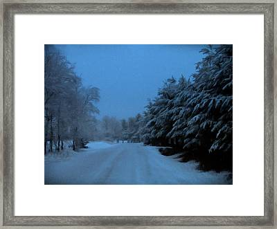 Framed Print featuring the photograph Silent Winter Night  by David Dehner