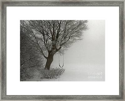Framed Print featuring the photograph Silently Swinging by Jan Piller