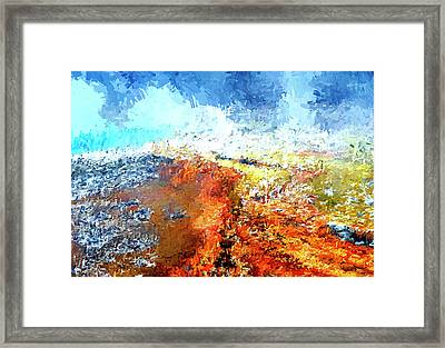 Silex Hot Springs Abstract Framed Print