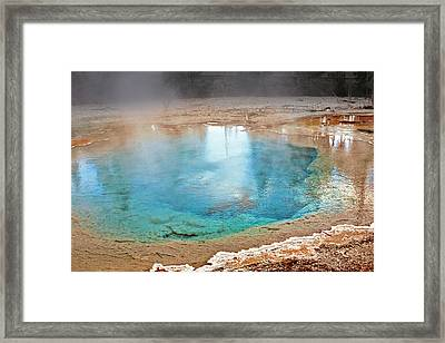Silex Spring Fountain Paint Pot Yellowstone National Park Wy Framed Print by Christine Till