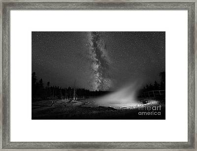 Silex Spring Milky Way Bw Framed Print