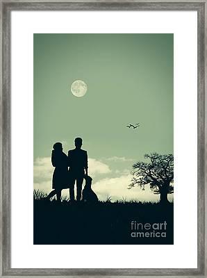 Silhouette Framed Print by Amanda Elwell