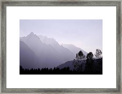 Silhouette Austria Europe Framed Print by Sabine Jacobs