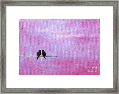 Silhouette Birds Two Framed Print