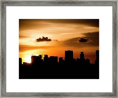Silhouette City Framed Print