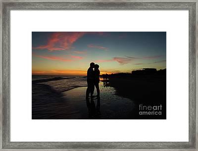 Silhouette Couple, Saint Joe Beach, Florida Framed Print