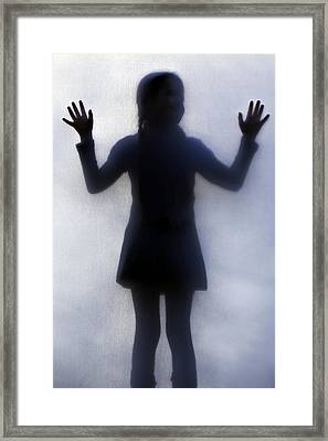 Silhouette Of A Girl Framed Print by Joana Kruse