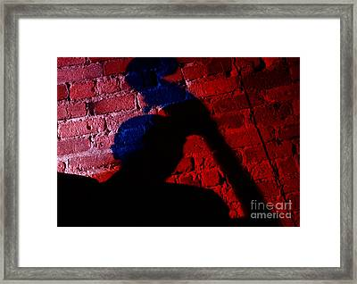 Silhouette Of A Jazz Musician 1964 Framed Print by The Harrington Collection
