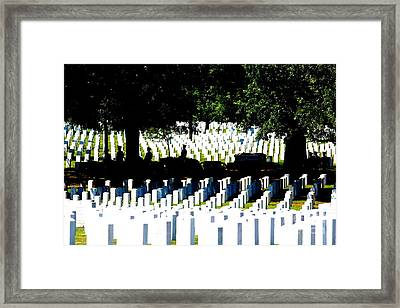 Silhouette Of Horse Team Escort Framed Print