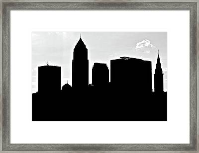 Silhouette Of The Big City Framed Print by Frozen in Time Fine Art Photography