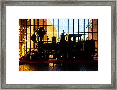 Silhouette Of The C.p. Huntington Framed Print by Garry Gay