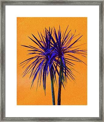 Silhouette On Orange Framed Print by Margaret Saheed