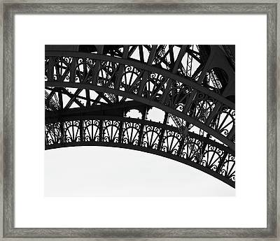 Silhouette - Paris, France Framed Print