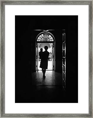 Silhouette Portrait Of Jacqueline Framed Print by Everett