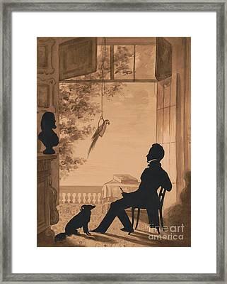 Silhouette Profile Of Artist Charles Fenderich, 1841 Framed Print