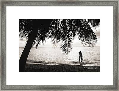 Silhouetted Couple Framed Print by Larry Dale Gordon - Printscapes