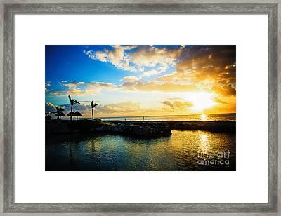Silhouetted Sunrise Framed Print by Anna Serebryanik