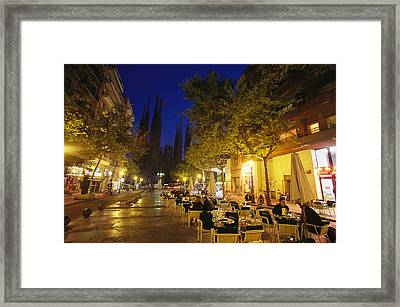 Silhouetted Temple At The End Framed Print