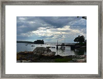 Silhouetted Views From Bustin's Island In Maine Framed Print