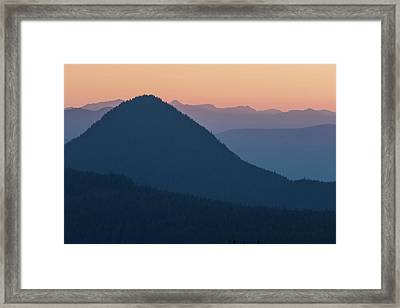Silhouettes At Sunset, No. 2 Framed Print