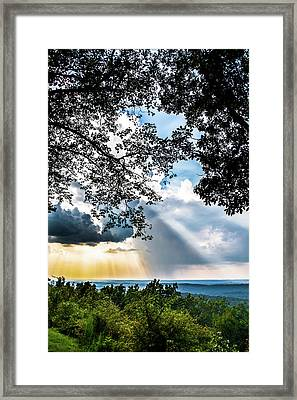 Framed Print featuring the photograph Silhouettes At The Overlook by Shelby Young
