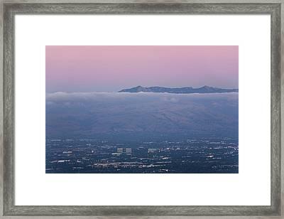 Silicon Valley At Dusk Framed Print by Matt Tilghman