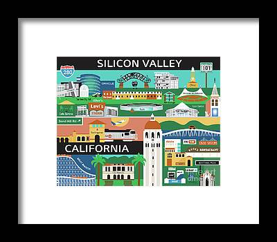 Silicon Valley Framed Prints