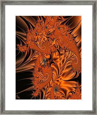 Silk In Orange Framed Print