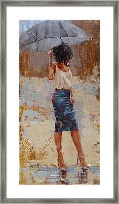 Silk Framed Print by Laura Lee Zanghetti