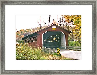 Silk Road Bridge Framed Print