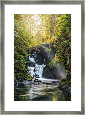 Silk Steps Framed Print by James Heckt