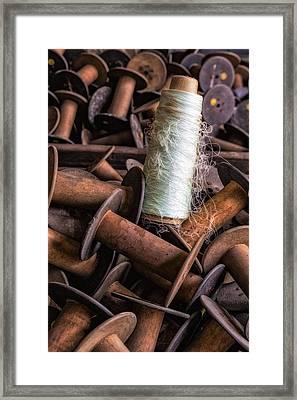 Silk Thread Spools Framed Print by Susan Candelario