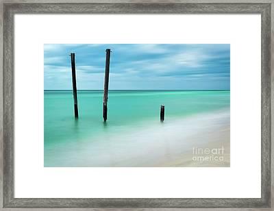 Silky Beach Framed Print by Doug Sturgess
