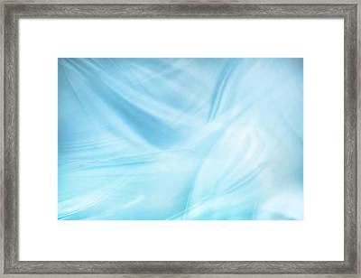 Silky Blue Lines Framed Print by Les Cunliffe