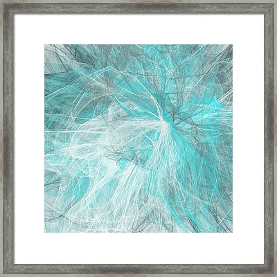 Silky Blues Framed Print by Lourry Legarde