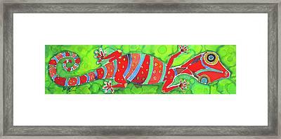 Silky Gecko Framed Print by Kelly     ZumBerge