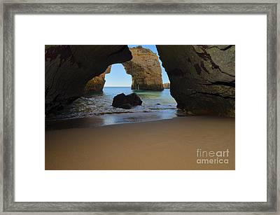 Silky Sands And Arch Framed Print