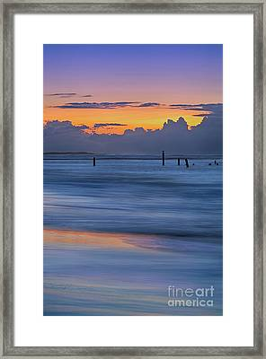 Framed Print featuring the photograph Silky Sunrise Reflections Outer Banks by Dan Carmichael